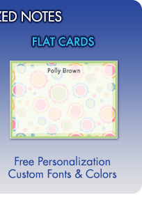 Personalized Flat Cards