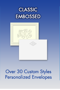 Classic Embossed Stationery with Personalized Envelopes