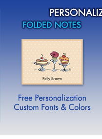 Personalized Folded Notes