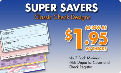 supervalue checks personal checks starting at 1 95