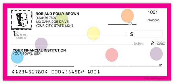 Polka Dotted Monogram Checks Supervalue Checks