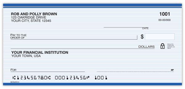 Monarch Personal Checks Supervalue Checks