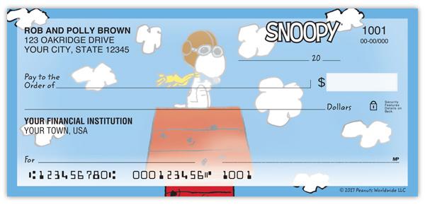 Snoopy Personal Checks Supervalue Checks