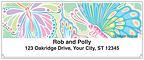 Psychedelic Butterflies Address Labels