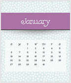 Simply Dotted 2019 CD Desk Calendar