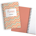 Chevron Coral Notebook
