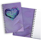 Watercolor Heart Notebook