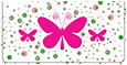 Bright Butterflies Checkbook Cover