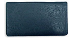 Navy Leather Checkbook Cover