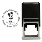 Smiling Mickey Round Stamp