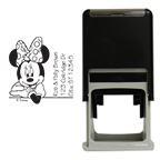 Minnie Mouse Leaning Square Stamp