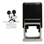 Mickey Mouse Leaning Square Stamp