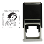 Snow White Square Stamp