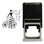 Bicycle Girl Square Stamp