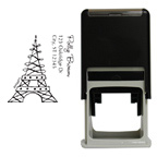 Eiffel Tower Square Stamp