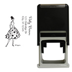 Fashion Floral Girl Square Stamp