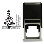 Holiday Tree Square Stamp