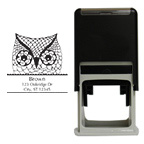 Owl Square Stamp
